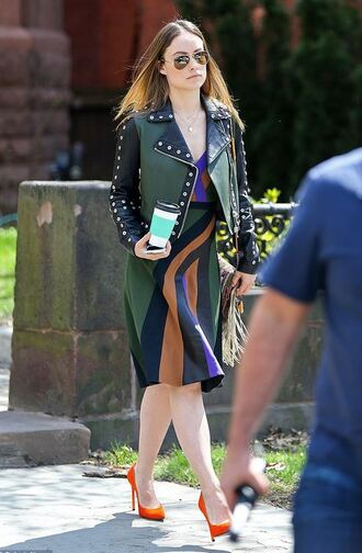 shoes dress jacket pumps olivia wilde