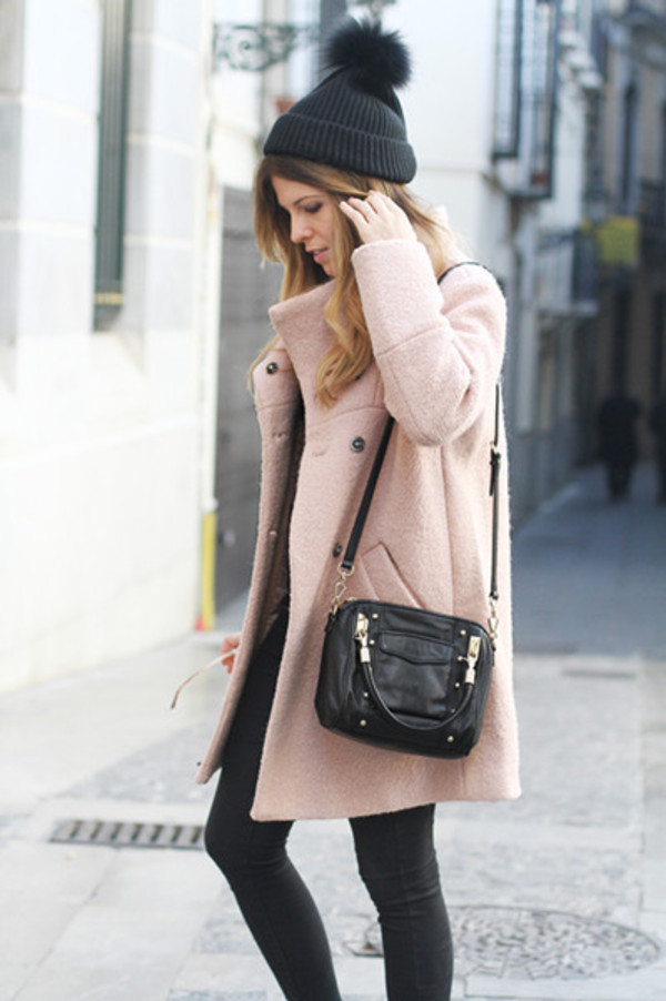 coat pink coat blogger fashion blogger outfit ootd