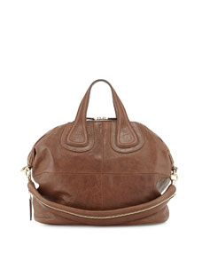 Givenchy Nightingale Medium Zanzi Satchel Bag, Medium Brown