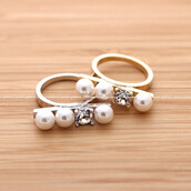 jewels,jewelry,ring,pearl,pearl ring,crystal ring,crystal