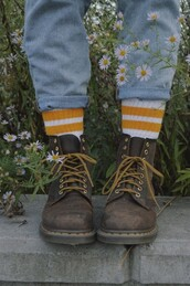 socks,stripes,bumble bee,yellow,white,yellow and white,stripy,sock,indie,yellow socks,white socks