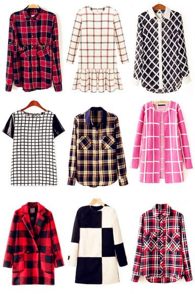 shirt t-shirt top oasap oasap_fashion dress blouse plaid coat jacket clothes jumper cardigan fashion