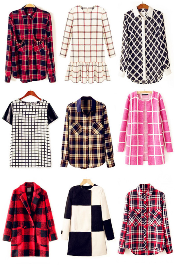 oasap oasap_fashion shirt dress blouse top plaid t-shirt coat jacket clothes jumper cardigan fashion