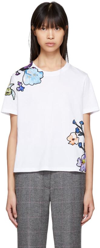 t-shirt shirt floral white top