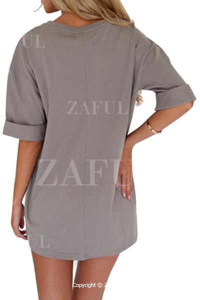 gray half sleeve t