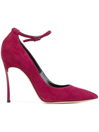ankle strap pumps purple pink shoes