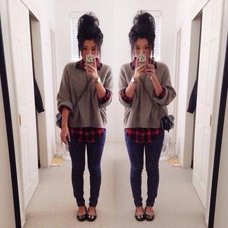 jacket sweater plaid shirt