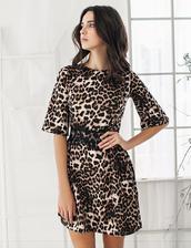 dress,guipure,fashion,outfit,women,zefinka,print,leopard print,leopard print dress,shift dress,outfit idea