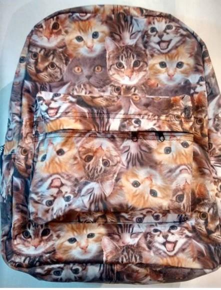 cats bag backpack cat print cat backpack cat print backpack
