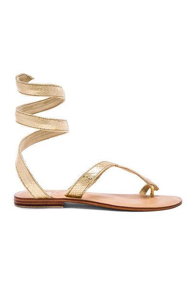 snake metallic gold