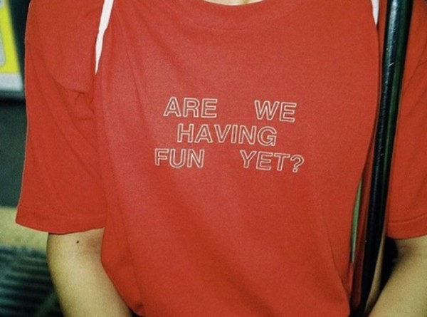 t-shirt red quote on it red top