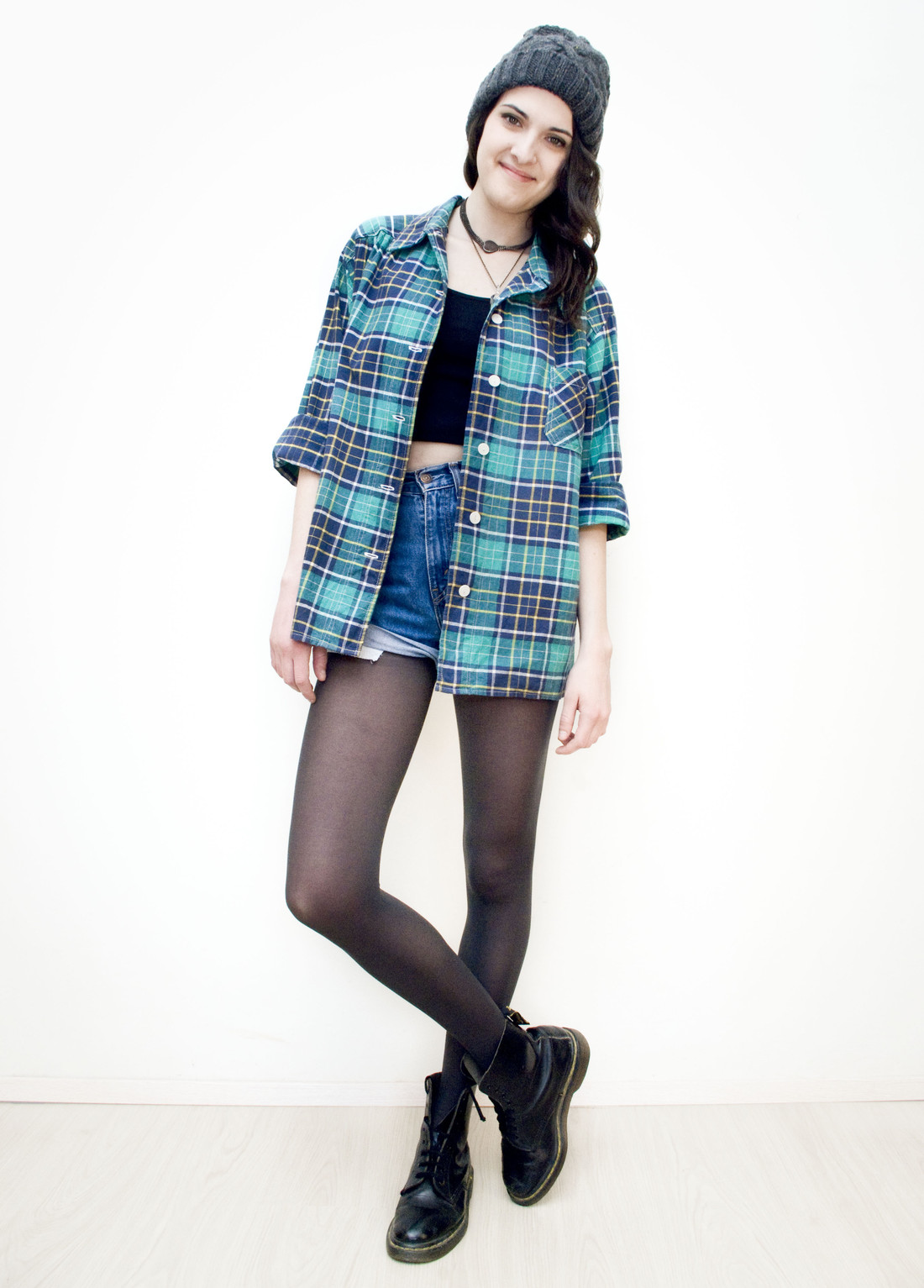 Green plaid shirt - Pop Sick Vintage