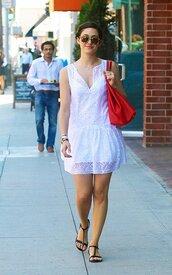 dress,emmy rossum,sandals,sunglasses,shoes