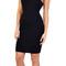 Glamorous - black square front jersey midi dress | emprada