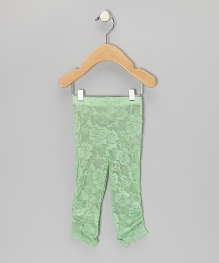 Mint Green Lace Leggings – Infant, Toddler & Girls | XY Fashion Styles At XYstyles.com