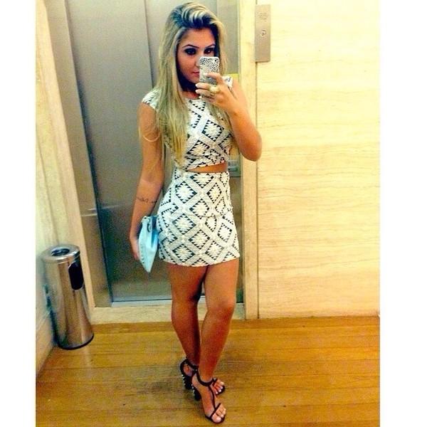 dress purse top crop tops white print tight bandeu skirt bottoms cute crop tops skirt