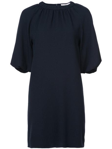 Tibi dress women blue silk