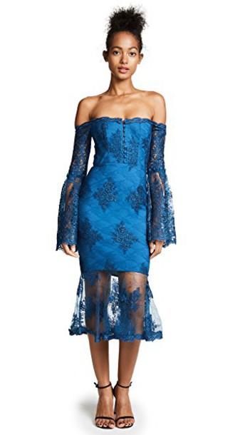 Nicholas dress midi dress midi lace blue