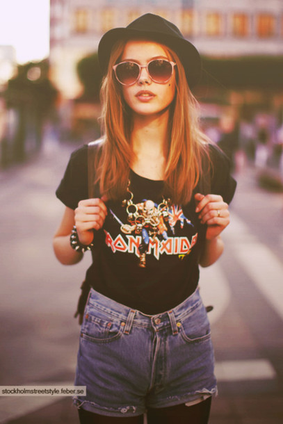 T Shirt Outfit Vintage Retro Sunglasses Rock Wheretoget
