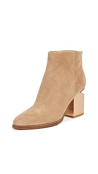 heel metal booties shoes