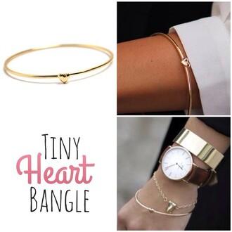 jewels jewel cult heart heart bangle heart jewelry tiny heart tiny heart bangle bangle bracelets jewelry