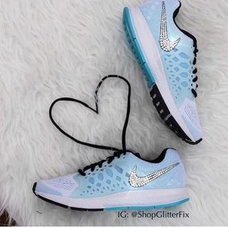 shoes nike running shoes nike shoes blue shoes
