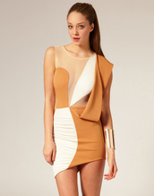 asymmetrical,white dress,orange dress,dress