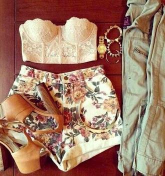 top jacket jeans jewels corset bustier lace