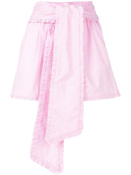 shorts women spandex cotton purple pink