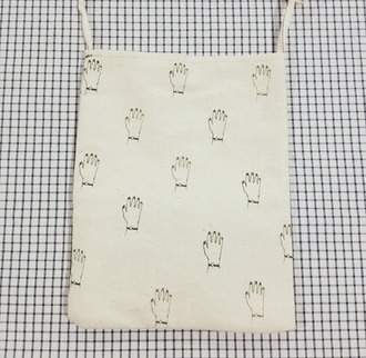 bag cotton pouch woven cotton bag woven bag white bag leather bag hands hand print