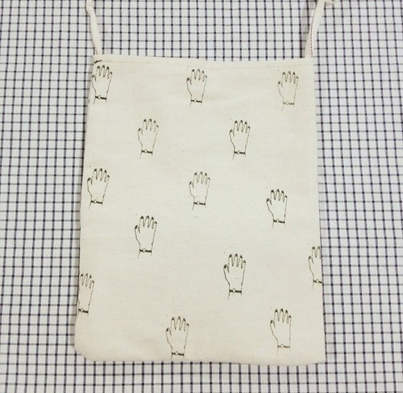 bag leather bag pouch cotton woven cotton bag woven bag white bag hands hand print