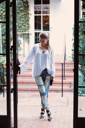 ashlee frazier blogger shirt jeans shoes bag jewels