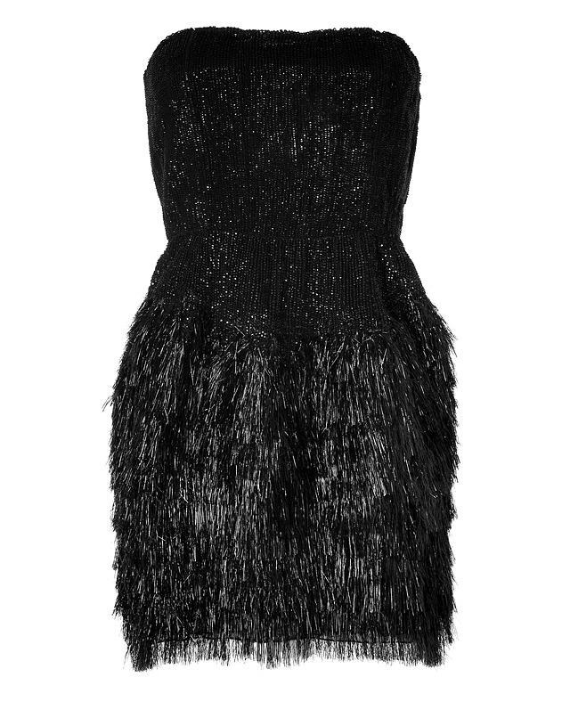 Sequined Mixed-Media Dress in Black from ROBERTO CAVALLI | Luxury fashion online | STYLEBOP.com