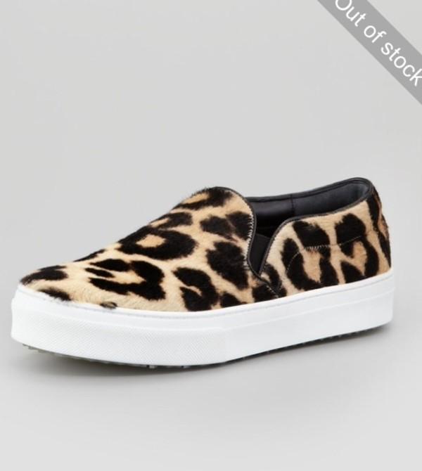 shoes celine panter leopard print sneakers