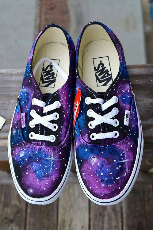 Hand painted galaxy vans by badgirlsclique on etsy
