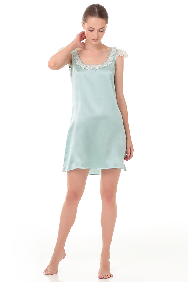 GLORIA SHORT SILK SLIP DRESS