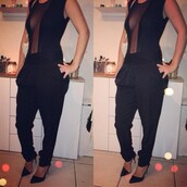 pants,clothes,sexy,black pants,amazing,beautiful,stylish,nice,perfect,bodysuit,body,high heels,heels,black heels