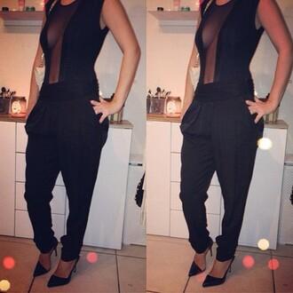 pants clothes sexy black pants amazing beautiful stylish nice perfect bodysuit body high heels heels black heels