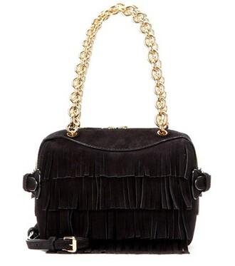 bee bag shoulder bag suede black