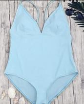 swimwear,light blue,blue,one piece swimsuit