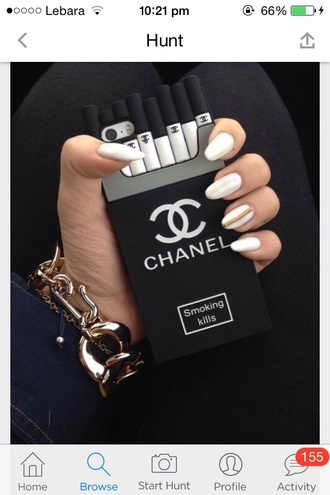 phone case channel iphone 4 phonecase black and white channel logo smoking kills