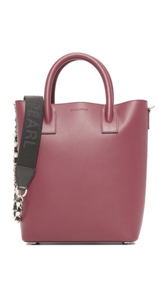 Mother of Pearl Hoxton Mini Tote in burgundy