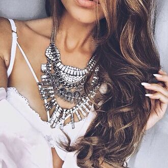 jewels tumblr weheartit instagram indie boho gypsy gypsy necklace statement necklace silver jewelry girl jewelry boho chic bohemian boho jewelry statement necklace silver necklace forever 21