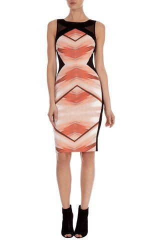 Geometric print shift dress : Dresses