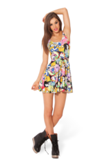Adventure Time Bro Ball Reversible Skater Dress › Black Milk Clothing