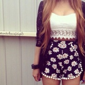 tank top,white,lace,crop tops,swimwear,shoes,shorts,shirt,white crop tops,top,lace crop top,cute top,blouse,dress,skorts,floral,daisy