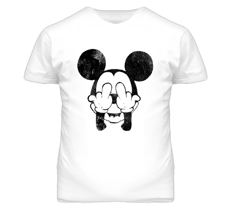 Vintage Mickey Fingers Distressed Graphic T Shirt