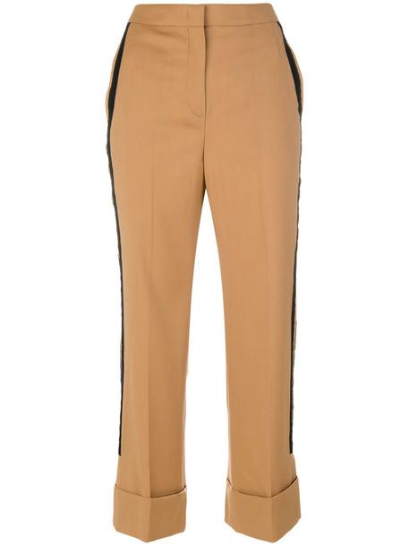 No21 cropped women wool brown pants