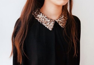 sweater collar bling sequin