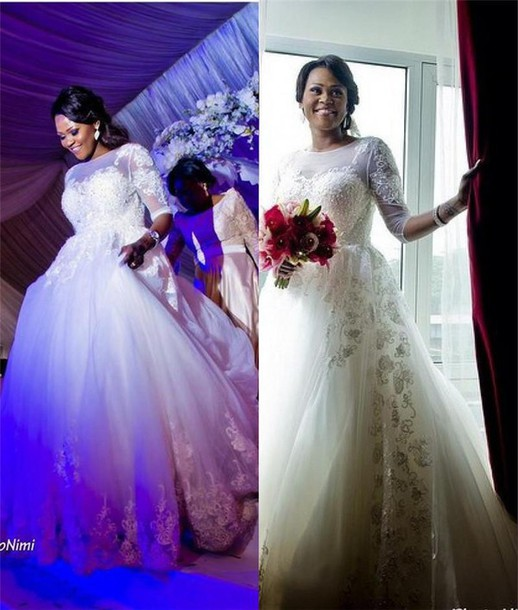 Dress african wedding dresses a line wedding dresses for Plus size african wedding dresses